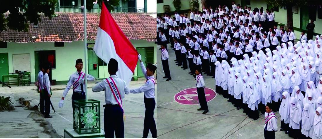 Upacara Bendera dalam Memperingati Dirgahayu Republik Indonesia